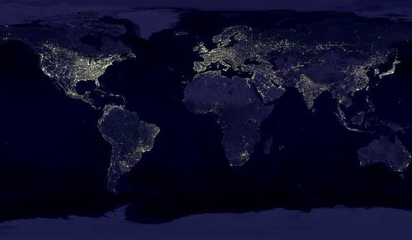 Image of the world at night